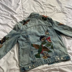 Blank NYC Jackets & Coats - Embroidered Denim Jacket